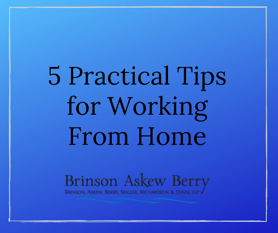 5 Practical Tips for Working From Home
